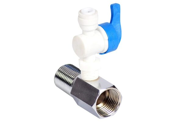 Inlet Fitting with Plastic Connector Valve for RO Water Purifier